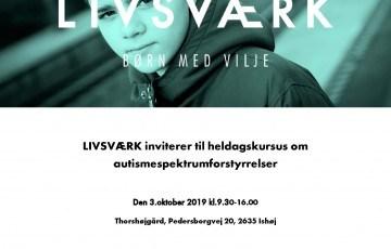 3.okt 2019 LIVSVÆRK Kursus om Autismespektrumforstyrrelser 29-10-2018_Side_1